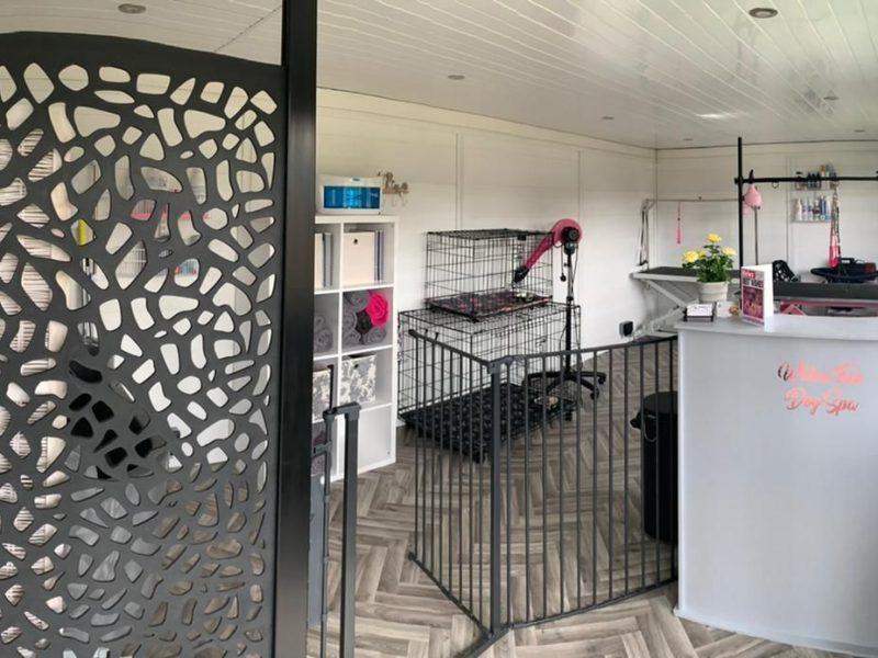 Cambridge Garden Room Dog Groomer Finishing Inside Piece