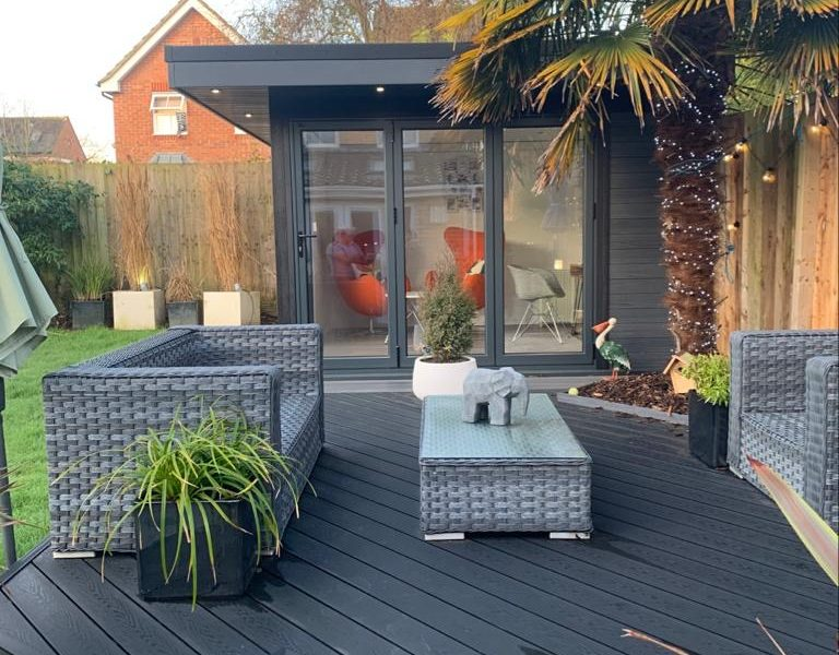 Garden Room In Cambridge, With Composite Decking For Outdoor Seating Area Copy Copy